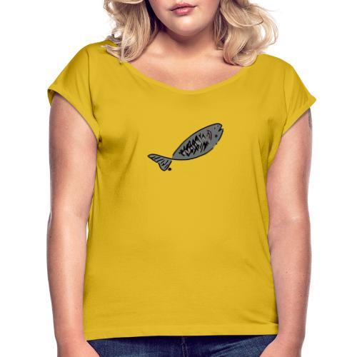 Grilled Fish - Women's Roll Cuff T-Shirt