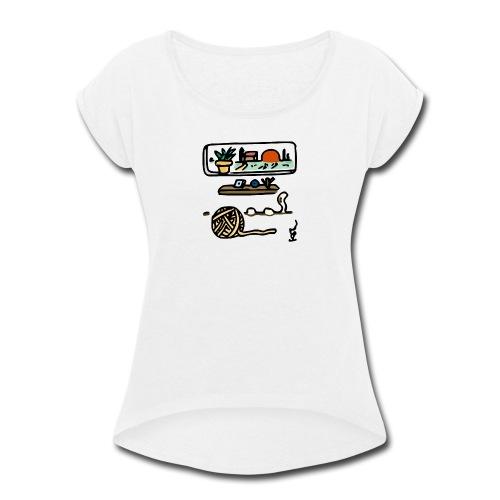 A Quiet Place - Women's Roll Cuff T-Shirt