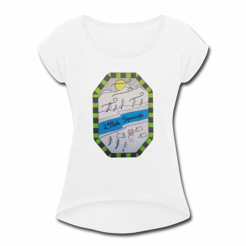 2nd position Squamish Hull - Women's Roll Cuff T-Shirt