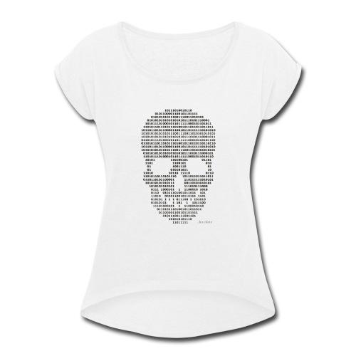 Hacker binary - Mens - Women's Roll Cuff T-Shirt