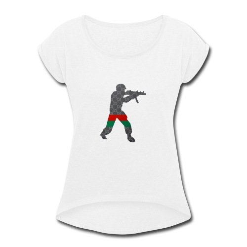 Swag Soldier - Women's Roll Cuff T-Shirt