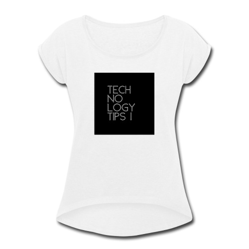 23652482 67DD 4297 A621 D715B2EFD74E - Women's Roll Cuff T-Shirt