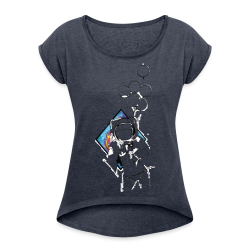 Astronaute - Art'Norme - Women's Roll Cuff T-Shirt