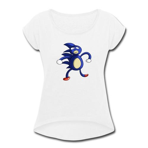 Sanic - Women's Roll Cuff T-Shirt