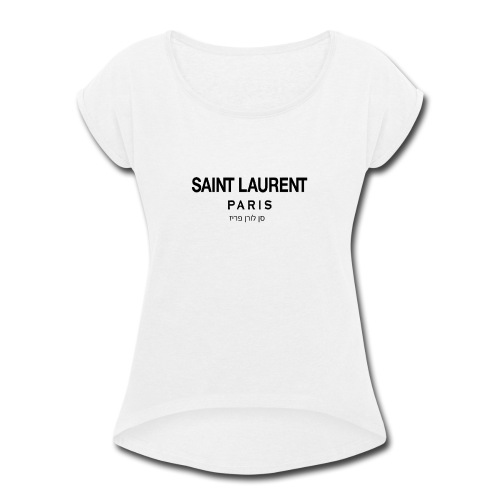 saint laurent - Women's Roll Cuff T-Shirt