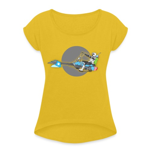 Imperial Chopper - Women's Roll Cuff T-Shirt