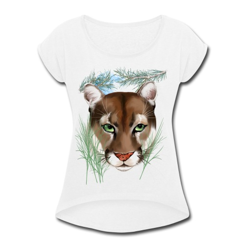 Midnight Puma - Women's Roll Cuff T-Shirt