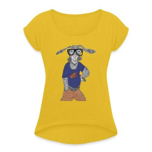 Harry Hare - Women's Roll Cuff T-Shirt