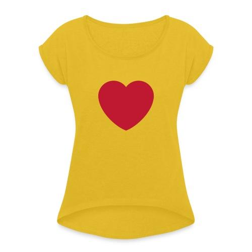 coeur.png - Women's Roll Cuff T-Shirt