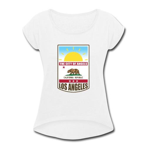 Los Angeles - California Republic - Women's Roll Cuff T-Shirt