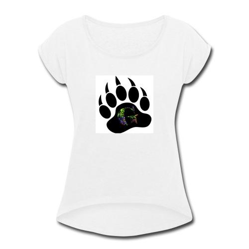 Splatter logo - Women's Roll Cuff T-Shirt