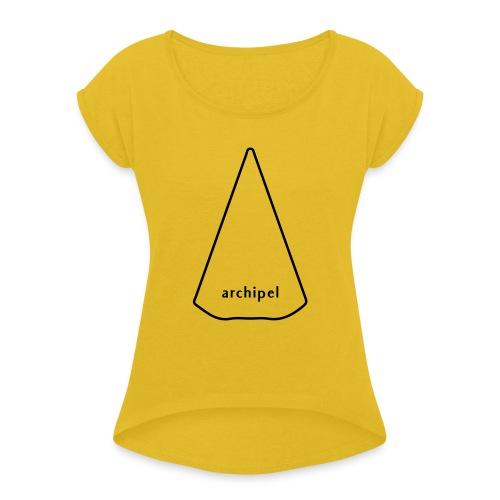 archipel_light grey - Women's Roll Cuff T-Shirt