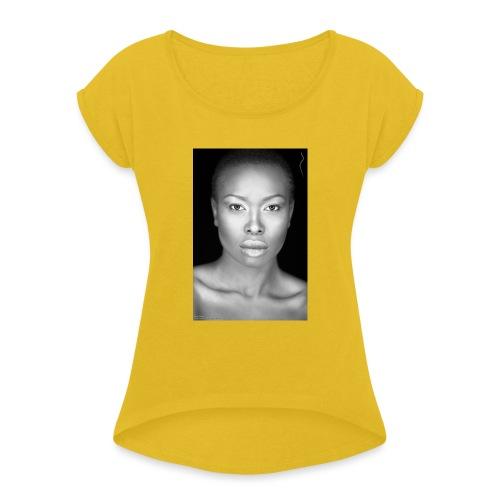 Brave : By Alüong Mangar - Women's Roll Cuff T-Shirt