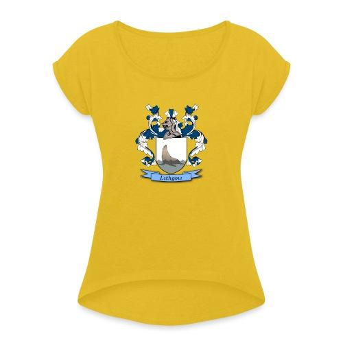 Lithgow Family Crest - Women's Roll Cuff T-Shirt
