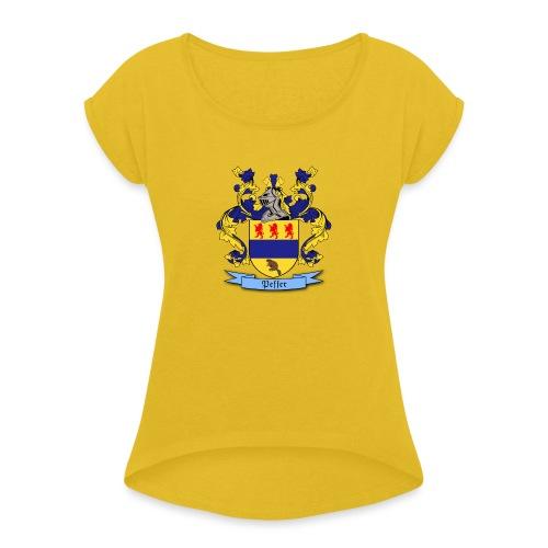 Peffer Family Crest - Women's Roll Cuff T-Shirt