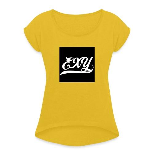 EXY Logo - Women's Roll Cuff T-Shirt