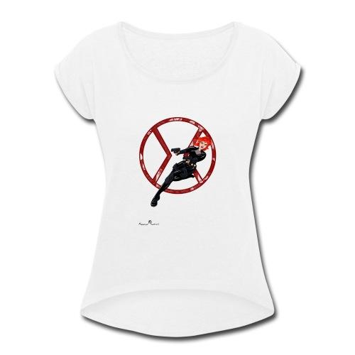 BULLETS AND BALLERINAS - Women's Roll Cuff T-Shirt