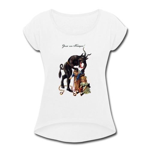 Krampus - Women's Roll Cuff T-Shirt