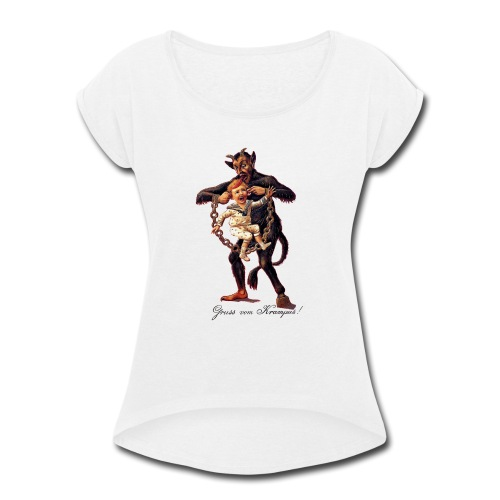 Gruss vom (Greetings From) Krampus - Women's Roll Cuff T-Shirt