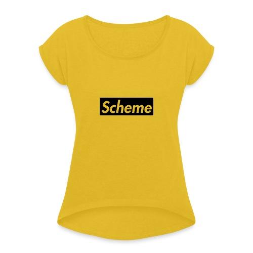 Supreme Scheme black - Women's Roll Cuff T-Shirt