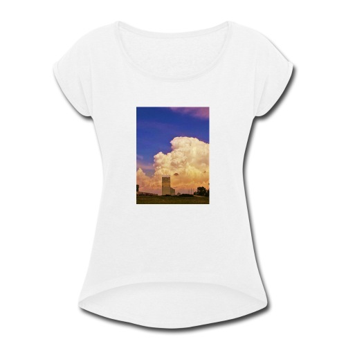 stormy elevator - Women's Roll Cuff T-Shirt