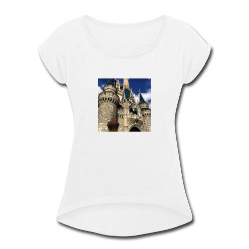 Cinderella's Castle - Women's Roll Cuff T-Shirt