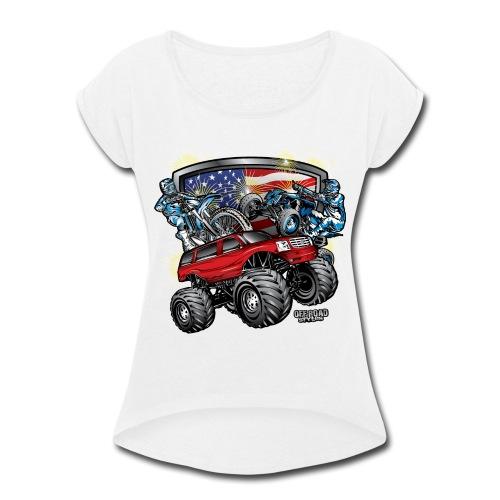 Off-Road 4th of July - Women's Roll Cuff T-Shirt