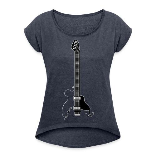 Electric Guitar - Women's Roll Cuff T-Shirt