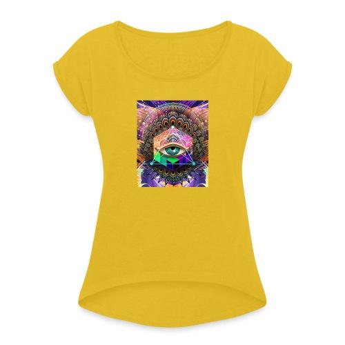 ruth bear - Women's Roll Cuff T-Shirt