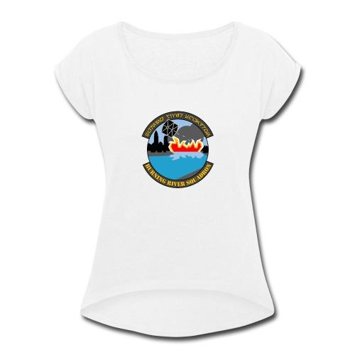 Burning River Squadron - Women's Roll Cuff T-Shirt