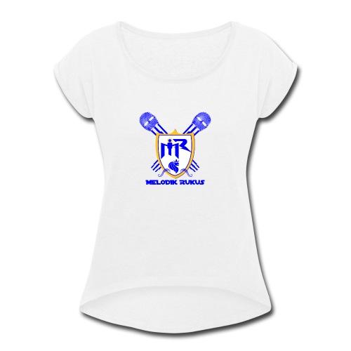 MelodikRukusRegalColor - Women's Roll Cuff T-Shirt