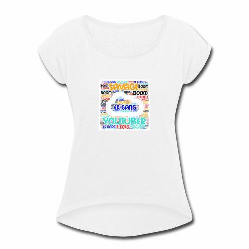 WORD MIX - Women's Roll Cuff T-Shirt
