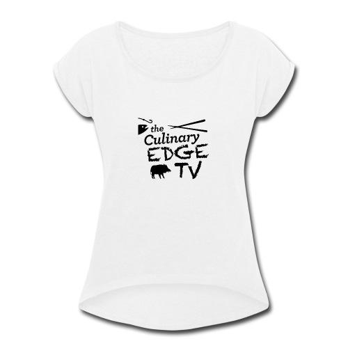 CETV Black Signature - Women's Roll Cuff T-Shirt