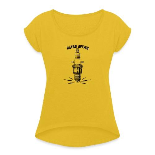 Retro Spark - Women's Roll Cuff T-Shirt