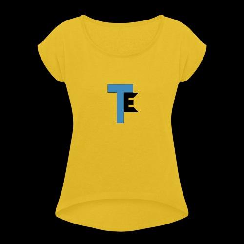 The Second Team Exelfiny Logo - Women's Roll Cuff T-Shirt