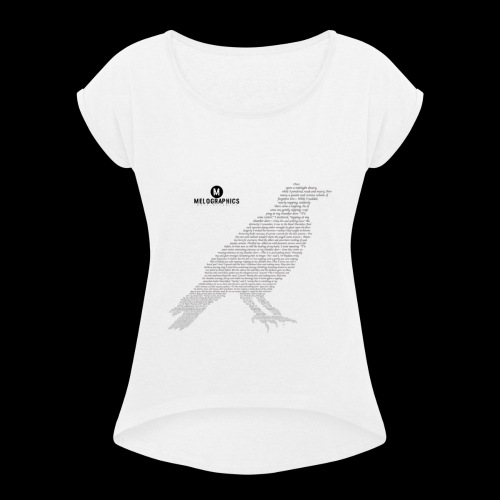 Quoth the Raven - Women's Roll Cuff T-Shirt