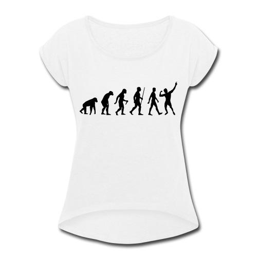 Evolution of Zyzz - Women's Roll Cuff T-Shirt