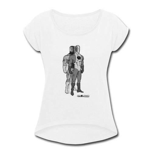 Superhero 9 - Women's Roll Cuff T-Shirt