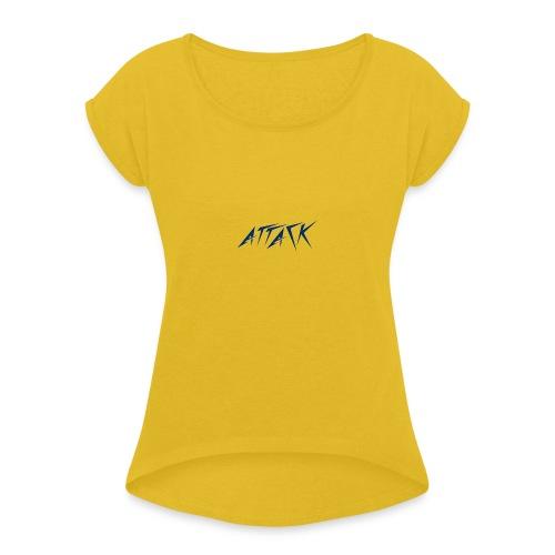 The attackers logo - Women's Roll Cuff T-Shirt