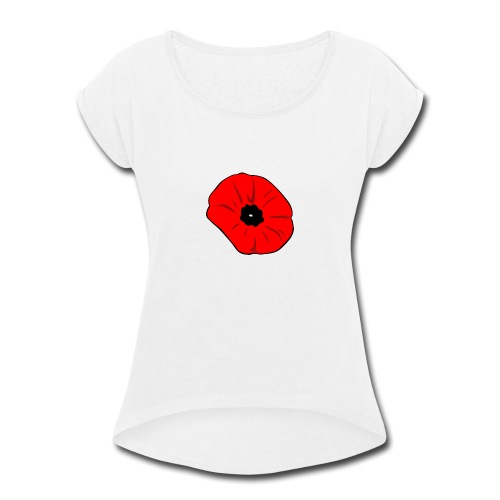 Poppy at Poppy! - Women's Roll Cuff T-Shirt