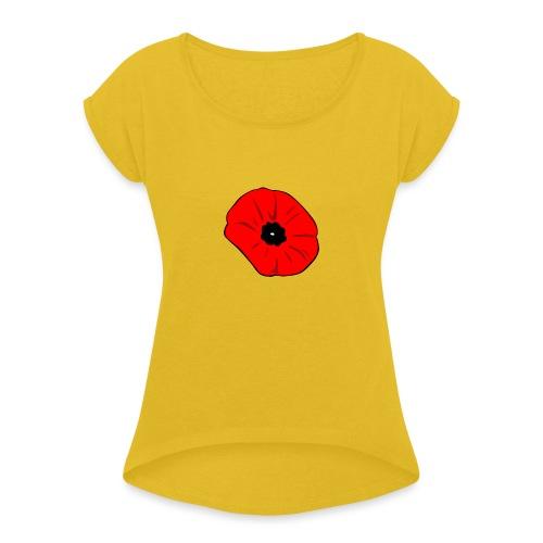 Poppy at Poppy! - Women's Roll Cuff T-Shirt