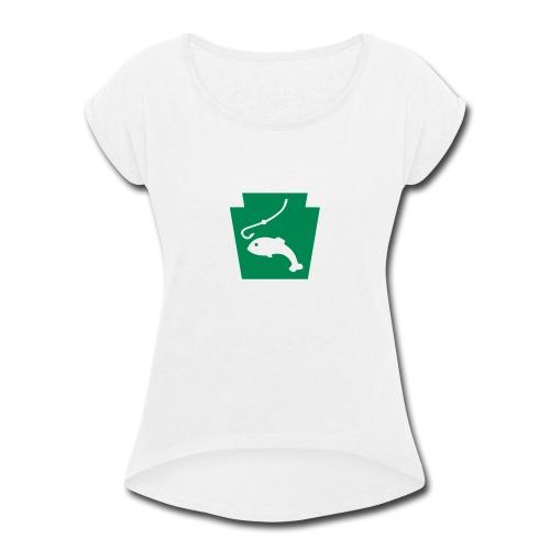 Pennsylvania Fishing Keystone PA - Women's Roll Cuff T-Shirt
