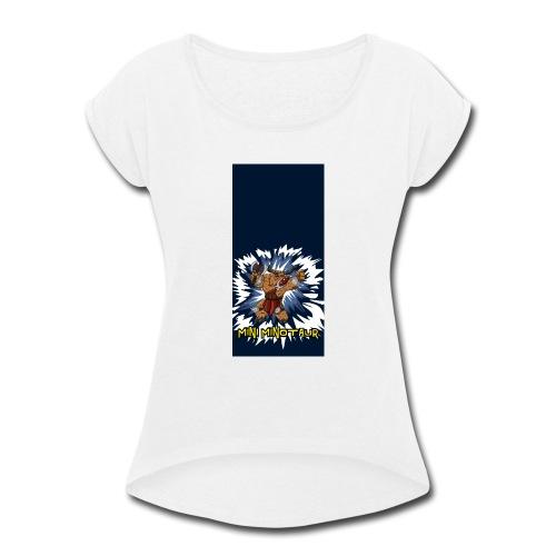 minotaur5 - Women's Roll Cuff T-Shirt