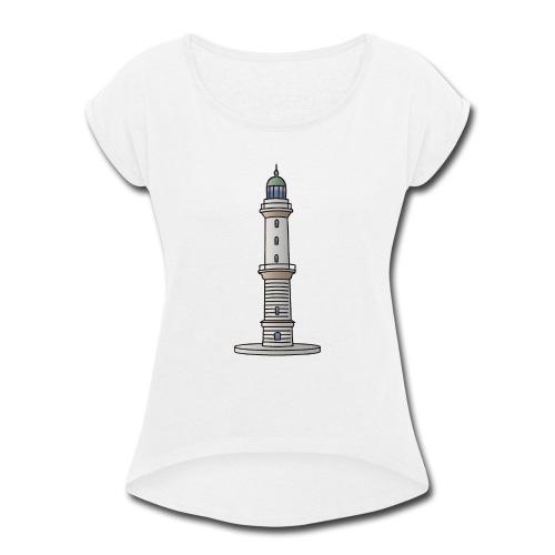 Lighthouse Warnemünde Rostock - Women's Roll Cuff T-Shirt