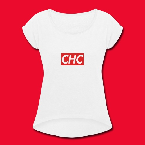chc logo - Women's Roll Cuff T-Shirt