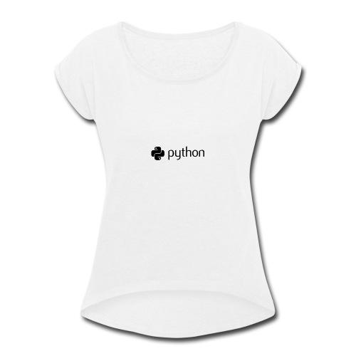 python logo - Women's Roll Cuff T-Shirt