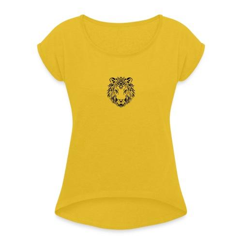 blk logo1 - Women's Roll Cuff T-Shirt