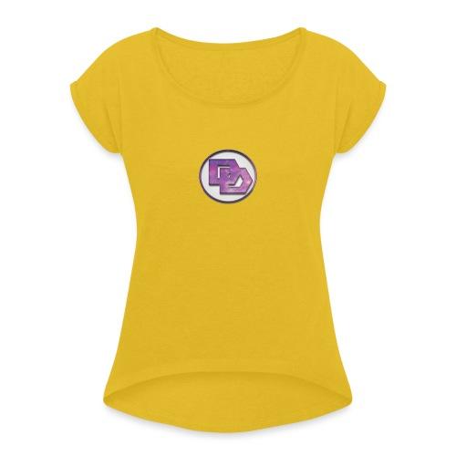 DerpDagg Logo - Women's Roll Cuff T-Shirt