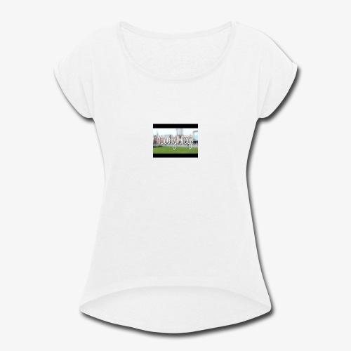 Dailyvlogs let's go - Women's Roll Cuff T-Shirt