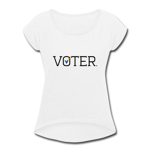 Voter Two-Toned Shirt - Women's Roll Cuff T-Shirt